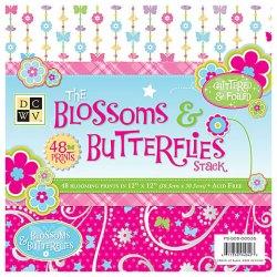 Набір паперу Blossom & Butterflies, 30х30 см, DCWV, PS-005-00035