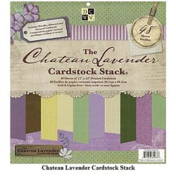 Набір паперу Chateau Lavender Solid, 30х30 см, DCWV, PS-005-00202