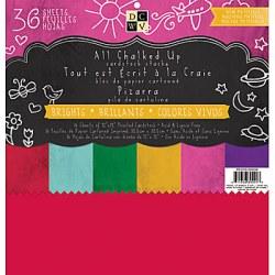 Набір паперу Chalk Brights, 30х30 см, DCWV, PS-005-00209