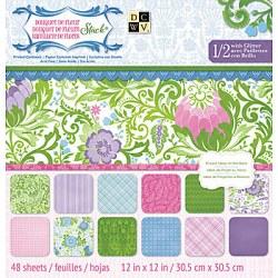 Набір паперу Bouquet De Fleur, 30х30 см, DCWV, PS-005-00251