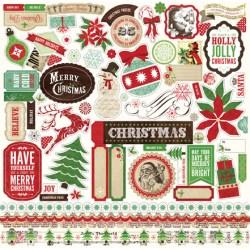 Наклейки Reflections Christmas, Echo Park, 30х30 см, RC55014