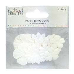 Набір квітів White, Simply Creative, SCFLW003