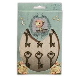 Металеві підвіски Mirabelle Key Charms, Santoro, SNMC003