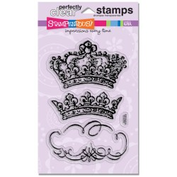 Штампи акрилові Vintage Crowns, Stampendous, SSC1119