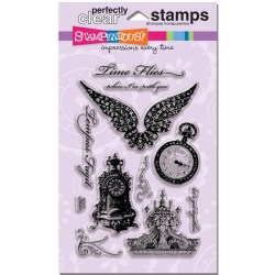 Штампи акрилові Time Flies, Stampendous, SSC1131