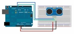 Ultrasonic Sensor Interfacing  Arduino tutorial  Circuit