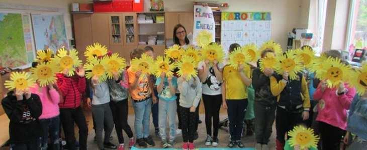 """""""Co nam daje Słońce"""" – udział naszych uczniów w konkursie Planeta Energii"""