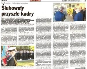 Kurier Szczeciński o ślubowaniu klas pierwszych w ZSM