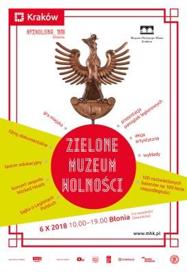 Zielone Muzeum Wolnośći - plakat