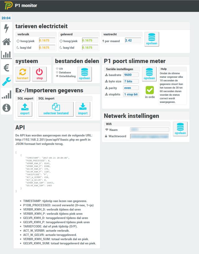 Screenshot instellingen