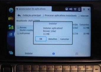 Instalação do Fennec no N810