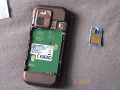 N97 mini: tem que colocar o sim card numa gavetinha