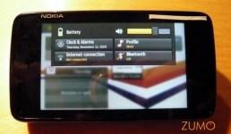 Um toque no relógio e você tem acesso a configurações rápidas do N900