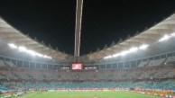 Uma geral do estádio no fim do jogo