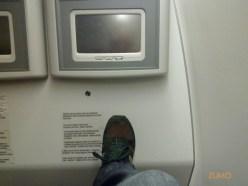 Primeira fila: espaço de sobra pra esticar as pernas