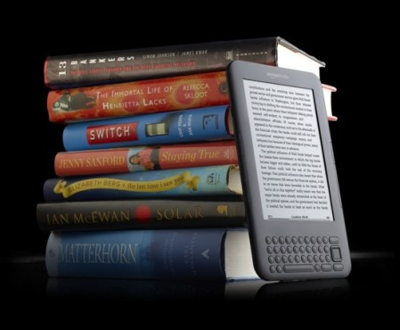Kindle with books - graphite
