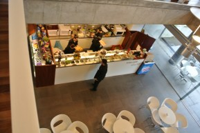Detalhe da cafeteria principal...