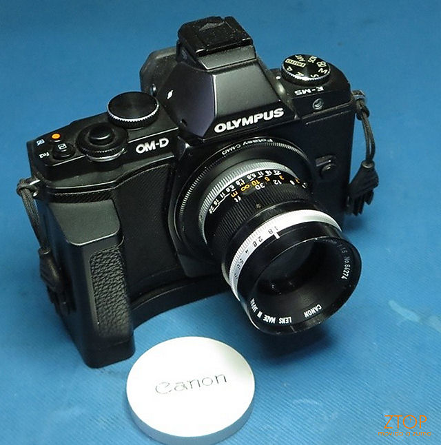 C-mount_lens_adapted