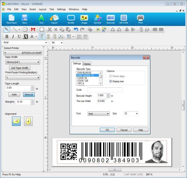 Epson_LW600_label_editor_PC_barcode1