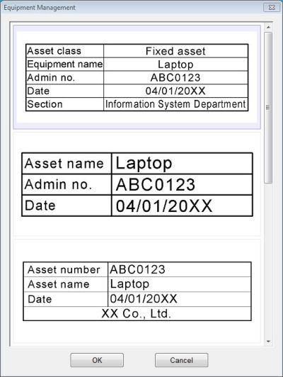 Epson_LW600_label_editor_PC_equip_management
