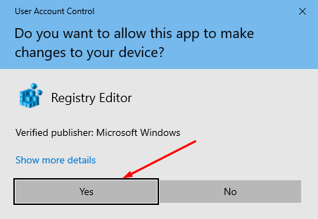 Allow changes to your device
