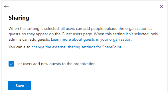 Letting all users add guests to the organization