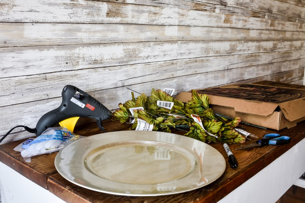 supplies needed for DIY leaf placemats