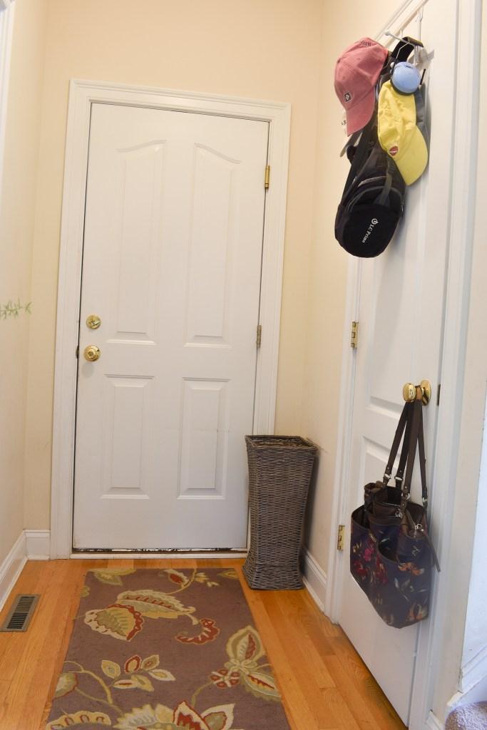 doors to the garage and coat closet