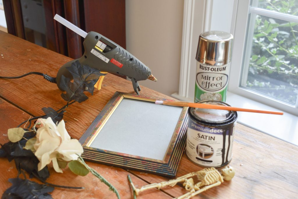 supplies needed to make diy spooky Halloween decorations