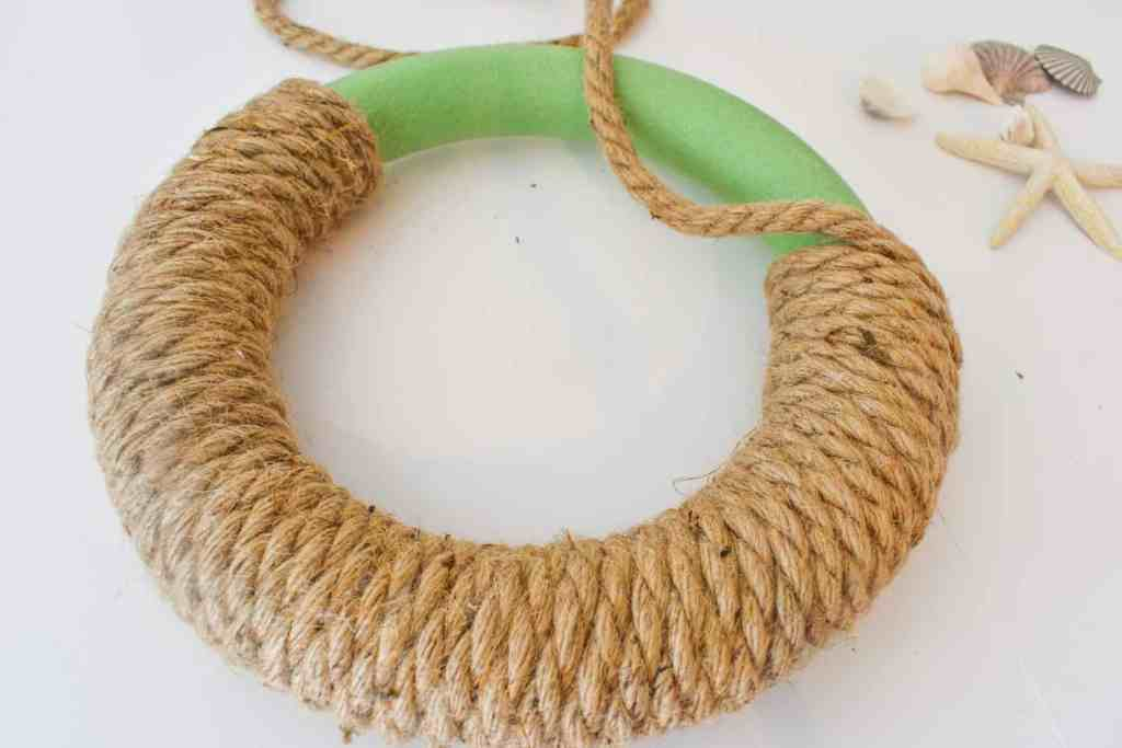 foam wreath form 3/4 covered with jute