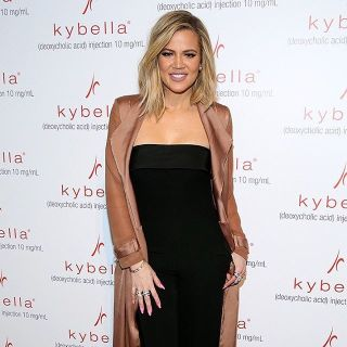 Khloe Kardashian is a spokesperson for Kybella, an injectable cosmetic treatment for the elimination of submental, under the chin, fat.