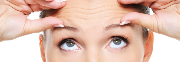 Illustrative brow lift image, a cosmetic surgery procedure which addresses furrows and droopiness of the forehead.