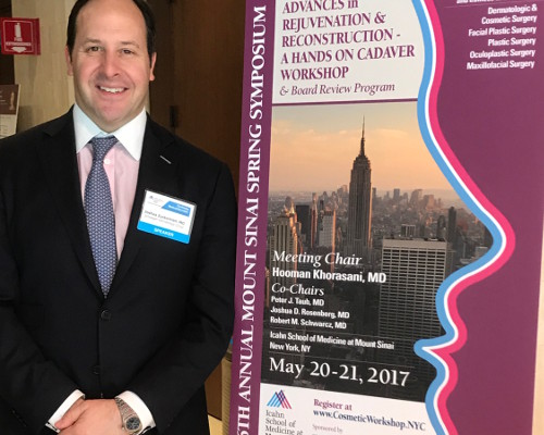 Dr. Zuckerman was an invited to Mount Sinai's Advanced in Rejuvenation & Reconstruction Symposium and gave a lecture on face lift surgical techniques.
