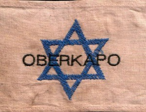Armbinde eines jüdischen Oberkapos