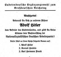 """""""Anschluss"""" Österreichs und das Münchner Abkommen"""
