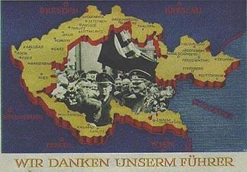 NS-Propaganda nach Errichtung des Protektorats Böhmen und Mähren.