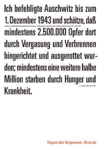 Aussage von Rudolf Höß, Kommandant des KZ Auschwitz, im Nürnberger Pohl Prozess über die Massenmorde in Auschwitz, 5. April 1946.