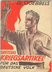Titelblatt einer Sammlung von Goebbes-Publikations zum Krieg
