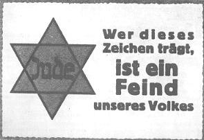 """Judenstern - NSDAP-Parole der Zeitung """"Woche"""" 27/1942"""