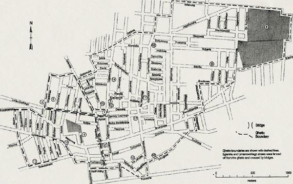 Lageplan des Ghettos