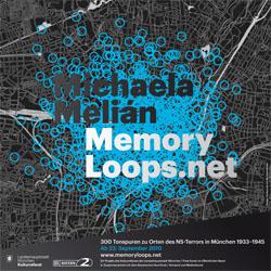 Michaela Meliáns Memory Loops als Denkmal für die NS-Opfer in München