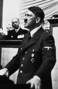 Adolf Hitler während einer Rede in den späten 30er Jahre
