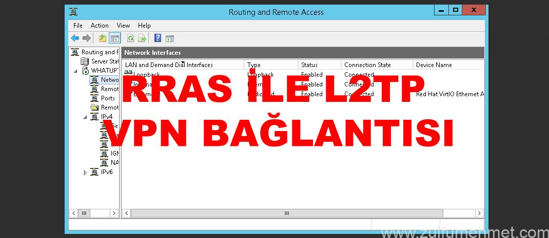 RRAS Üzerinden L2TP Protokolü İle VPN Bağlantısı Sağlama