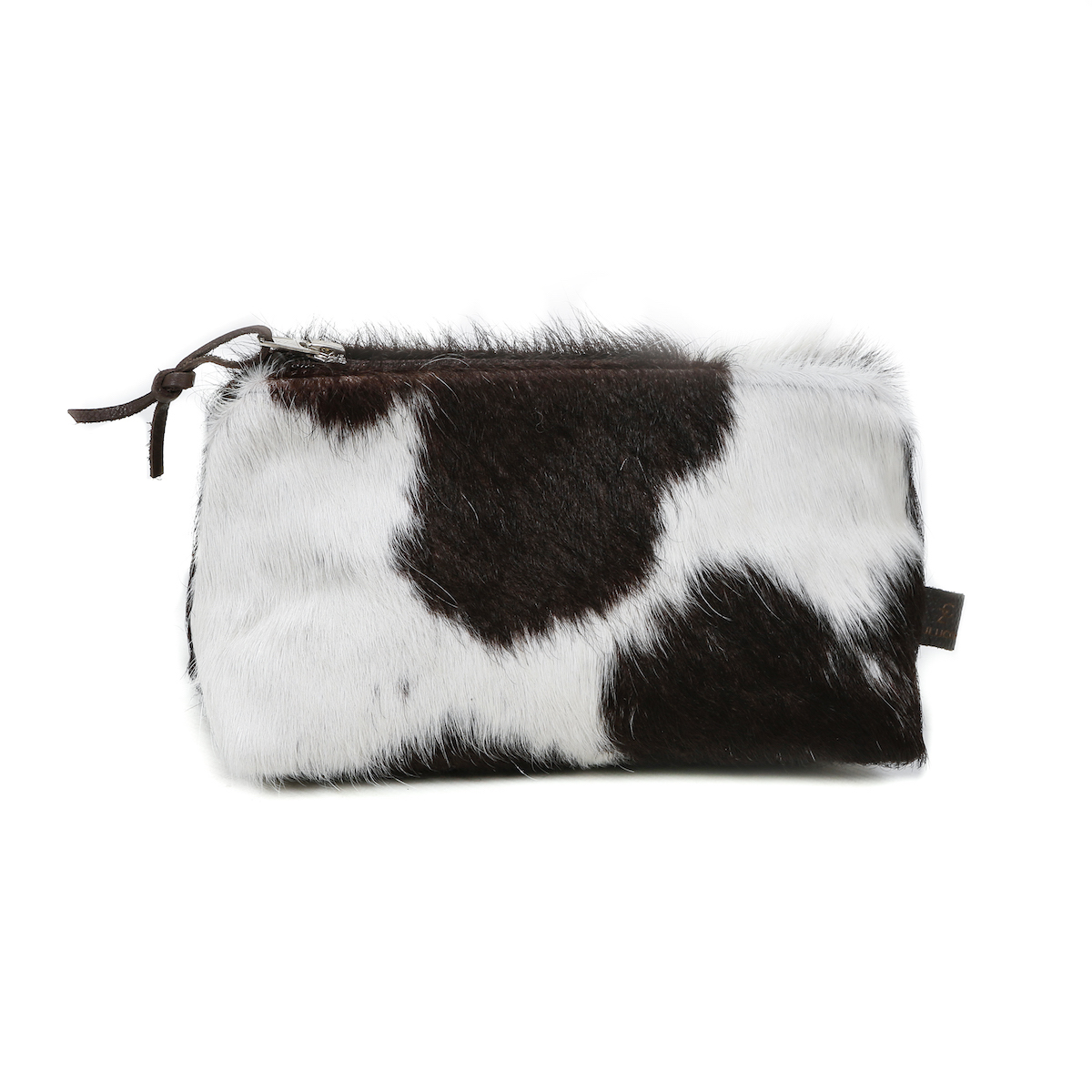 cowhide clutch, cowhide purse, handmade, artisan made, cowhide cosmetic bag, slow fashion, ethical fashion, sustainable fashion, christmas gifts, presents, leather bag