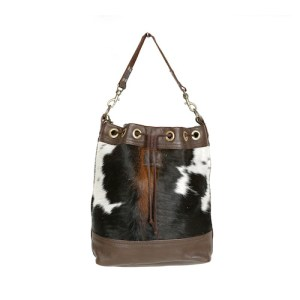 bags-leather-bucket-bags-tricolour-cowhide-bags-brown and white, leather bags, fashion accessories, women's accessories