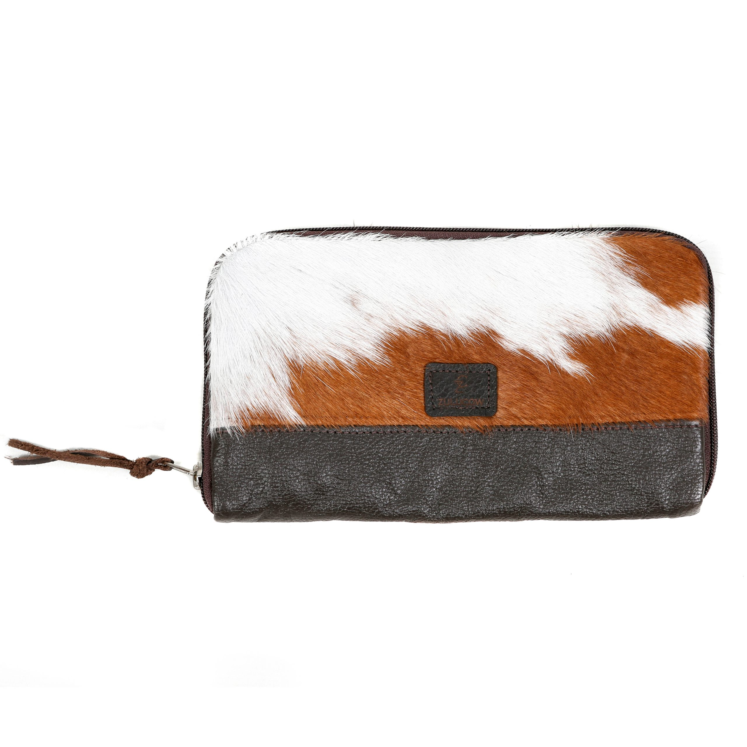 cowhide bag, leather bag, handbag, clutch, clutchbag, brown & white, evening bag, cowhide accessories, evening bag, fashion accessories