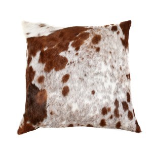 Seriously luxurious, dramatic, cowhide scatter cushions. Statement cushions: gorgeous and glossy, they look fabulous on a vintage leather sofa; modern stool or your favourite antique chair.