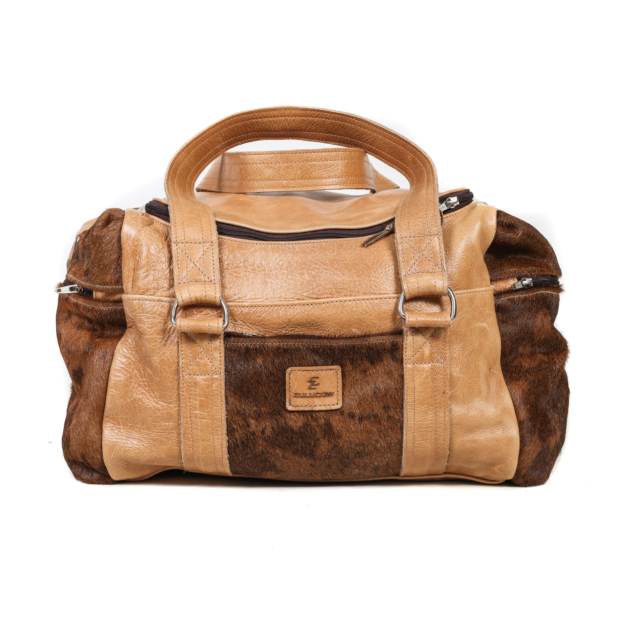 79e464bc6ed Zulucow Nguni cowhide leather weekend bag brown and white travel bag travel  accessories holdall luggage