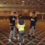 zumba instructor conference Los Angeles 2014 Lindsey Taylor en racquel bulleser 02