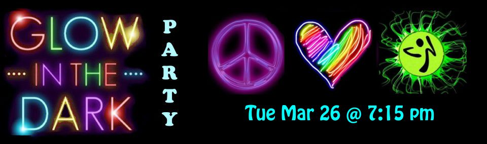 PLZ GLOW Party – Tuesday March 26th, 2019 @ 7:15 PM